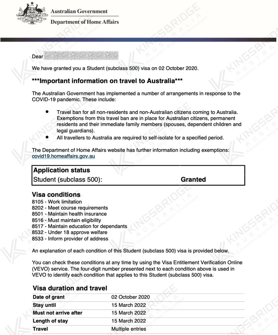 Student Visa Grant 4